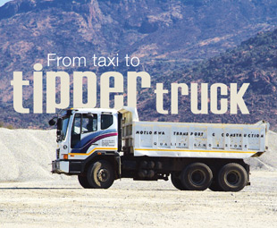 From taxi to tipper truck