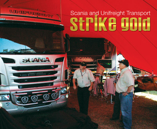 Scania and Unifreight Transport strike gold