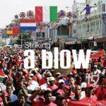 Striking a blow