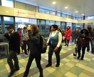 Mother City boards the BRT