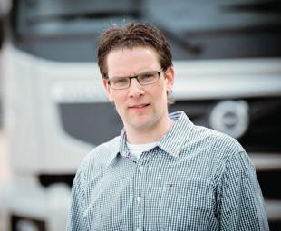 Lucien van Zullen, driver trainer at Volvo Trucks in Holland.