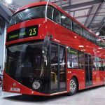 The Wrightbus design for London's new double-decker has no fewer than three doorways. The rear loading platform can be sealed off for off-peak one-man operation.
