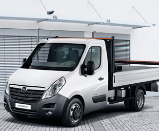 The chassis/cab version of Opel's latest Movano range, which was launched into the European market in 2010.
