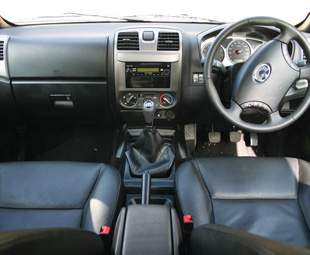 A decent interior, but in a double cab most will probably expect more.
