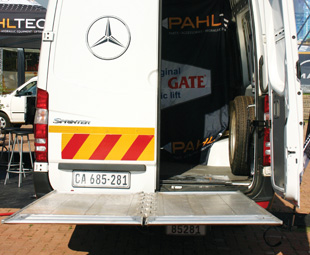 Weighing just 300 kg, but able to lift nearly double that, the Sprinter Lift brings new convenience to van operators.