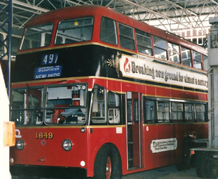 The author's photograph of a preserved Johannesburg BUT trolleybus in the James Hall Museum of Transport at Wemmer Pan.