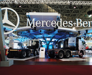 Mercedes-Benz launched its first completely new truck and  bus range after 55 years in Brazil.
