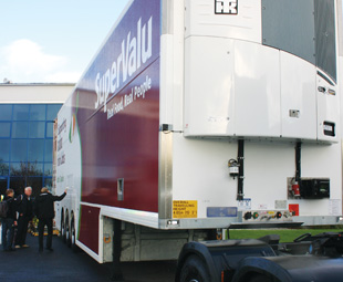 "This innovative multi-temperature double-deck trailer won Musgrave Retail Partners Ireland Thermo King's ""Energy Efficiency Leader Award""."