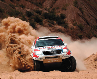 Three Toyota Hilux bakkies, all built and developed by Toyota Motorsport in Johannesburg, finished in the top 11 spots.