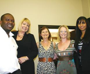 The team from MAN Truck & Bus – Livingstone Mulaudzi, Marja Brunninger and Naseera Barradeen (right), with Margaret Phillipson and Emma Bowden from FOCUS.