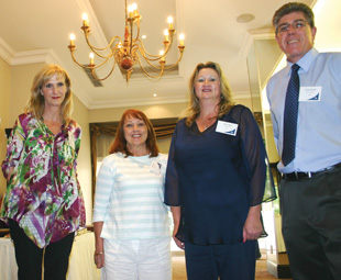The people who started it all –  (from left): Fritz Hellberg, FOCUS editor Charleen Clarke and publisher Tina Monteiro, with Engen's Karen Smith and Lindsay Bassett.