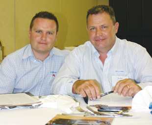 Jeandre Koen and Alec Mack of Scania Southern Africa believe the R620 will be one of the quickest on the route due to its superior power.