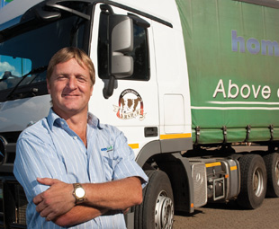 Louis de Villiers of Homsek Dairies says the recommendation to go with Continental's new generation truck tyres was worth its weight in gold.