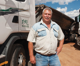 Frans Pretorius, owner of FMJ Trust, says these tyres are the way of the future for his operation.