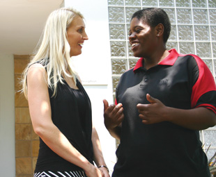 Telishia Middleton, training and development manager at UD Trucks, with Jacqueline Kekana, a graduate of one of its first learnership programmes.