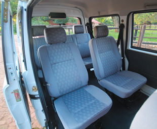 The Mini Bus: providing ample space for the average-sized Tom, Dick and Harry, plus three more.