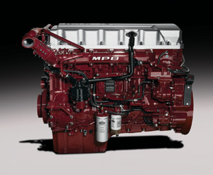 Mack's in-house engine family now includes 11-litre MP7, 13-litre MP8 (illustrated) and 16,1-litre MP10 power units.
