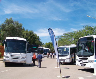 Manufacturers showed off their latest and hottest buses to the SABOA crowd.