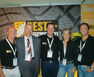 From left to right: Gary Currin, financial director; Anthony Fragatos, mechanical-industrial engineer; Guy Bower, marketing director; Julie Ridgeway, managing director; and Jason Sharman, an approved agent of Best TPS South Africa.