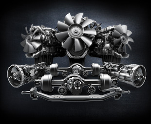 """Detroit"" is the brand name of a new family of integrated driveline components, including engines, gearboxes and axles, from Daimler Trucks North America."