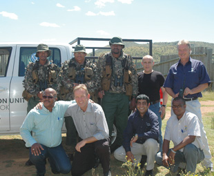 All parties involved in the collaboration against rhino poaching at the Pilanesberg National Park.