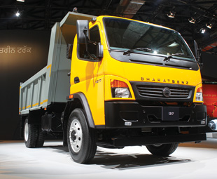 BharatBenz of India will use Fuso's Canter as the basis for its lighter truck range.