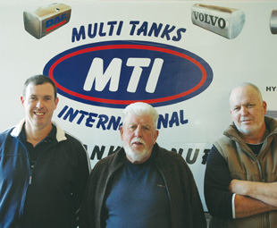 From left: Lee, Arthur and Craig Johnson from Multi Tanks International – a local fuel tank manufacturing company, creating products as good as any OEM could offer.