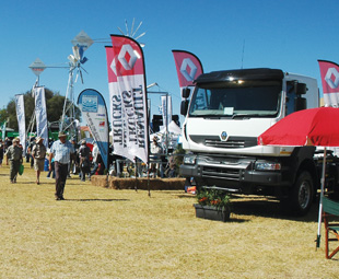 Nampo attendees peruse the stands to see what the show has to offer.