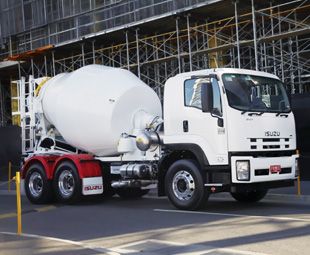 Isuzu now has a dedicated 6x4 truck-mixer chassis in Australia under the FVY designation.