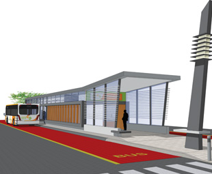 An artist's impression of the station  design for the RRT project.