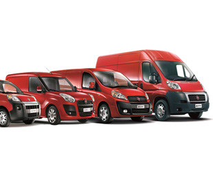 The range of vehicles supplied by Fiat Professional UK.
