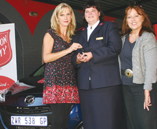 From left: FOCUS editor Charleen Clarke, Captain Heather Rossouw of Ethembeni, and Tina Monteiro, FOCUS publisher.