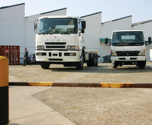 FUSO vehicles  welcomed guests to the Daimler plant in East London
