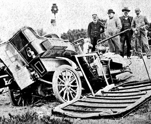 South Africa's first-ever automobile accident, Cape Town 1903