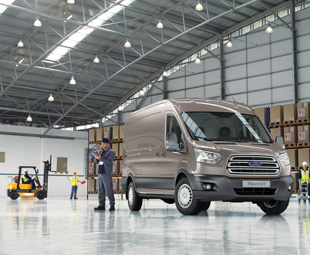 Ford's new Transit 'two-ton' van shown here in high-roof configuration.