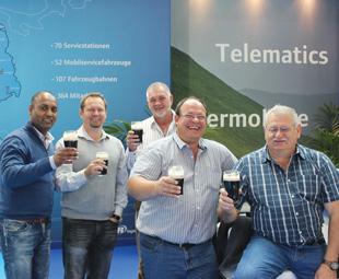 From left: Sujen Padayatchi, Aspen Logistics; Ronnie Meechan, GEA Refrigeration Africa; Len Hyman, ILRS; (front left) Attie Lubbe, ILRS; Rassie Erasmus, Parmalat.