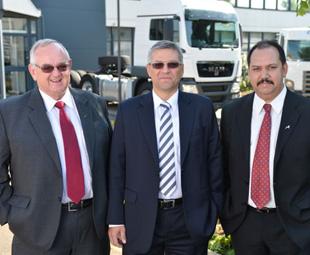 From left: Ray Karshagen, Markus Geyer and Bruce Dickson.
