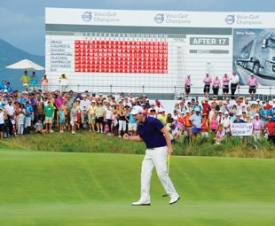 Volvo's swings onto the green