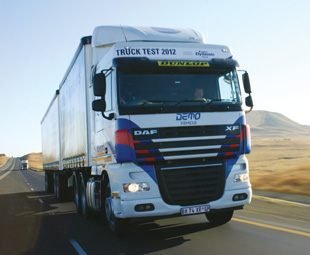 """""""Our payload came out tops if you look at the Truck Test 2012 results,"""" says main board director of Babcock in Africa Wilna Steyn, who is responsible for DAF business as well."""