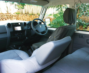The double cab interior offers good space.