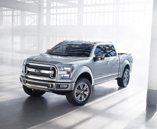 Ford's Atlas concept on show in Detroit provided clues to future full-size pickup features.