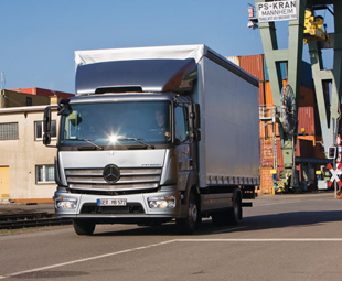 """The latest iteration of the Mercedes-Benz Atego has adopted similar frontal styling cues to its Actros, Antos and Arocs """"big brothers""""."""