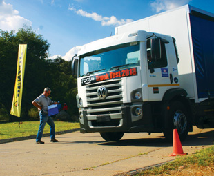 Dunlop strikes a pose at Truck Test 2013 to show its support for the transport industry.