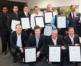 Automechanika Johannesburg's Innovation Awards 2013 finalists and winners sporting their certificates of commendation and top accolades.