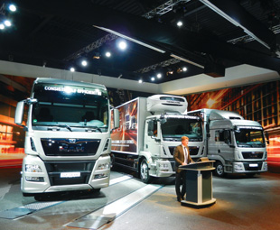 MAN has premiered its new Euro-6 TGL, TGM, TGS and TGX trucks