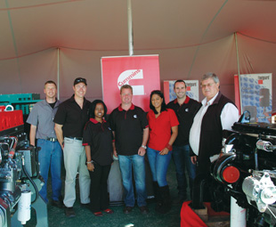 The Cummins team at Nampo, ready and waiting to indulge customers in the wide array of products on display.