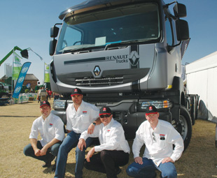 The Renault Trucks' team was happy to tell all at Nampo just how much of a boer (farmer) their vehicles can be … With the off-road Kerax being able to rough it in any veld and the light and fuel efficient Premium Lander being the perfect farming partner.
