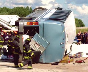 Crash boom bus