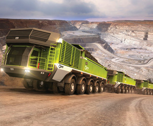 Ground control to mining haulier
