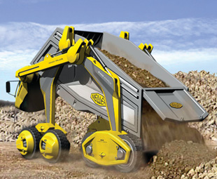 The Super Tipper Truck will be able to dump its load from all sides.